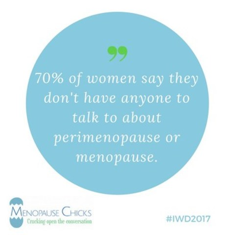 70% of women say they don't have anyone to talk to about perimenopause or menopause. (CNW Group/Menopause Chicks)