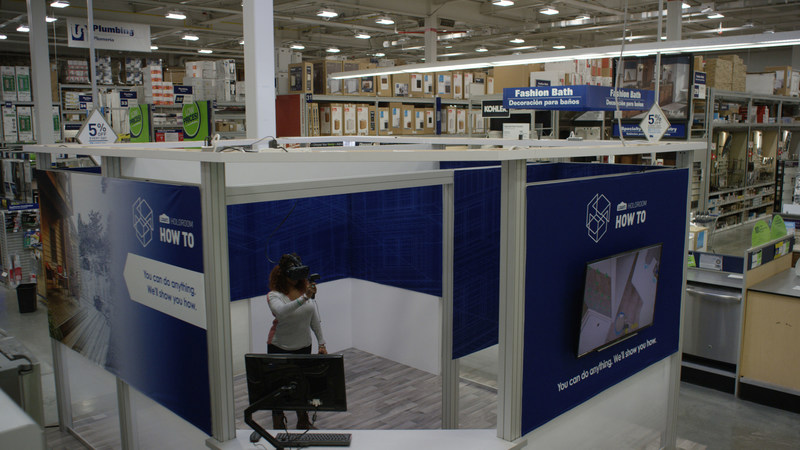 Lowe's next-generation VR experience, Holoroom How To, provides on-demand DIY clinics for home improvement learning.