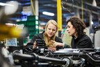 Sophie Wakeford, graduate and Dr Lucia Carassiti, chassis engineer (PRNewsFoto/Jaguar Land Rover)