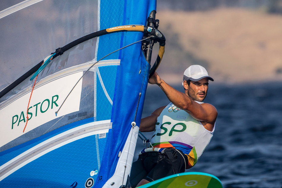 RS:X Windsurf Champion Ivan Pastor competes in the Rio 2016 Olympic Sailing Competition