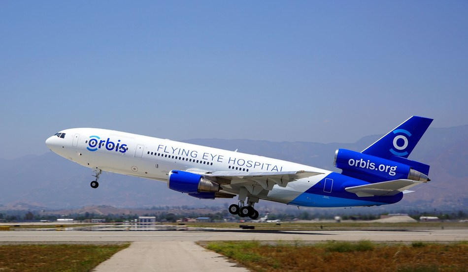 The Orbis Flying Eye Hospital Takes to the Skies (PRNewsFoto/Orbis UK)