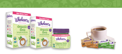 Wholesome! has refreshed its Organic Stevia product with a new and better taste! This new Stevia's zero calorie granules are free-flowing like sugar and easily dissolve in hot or cold beverages. This Stevia is USDA Organic, Non-GMO Project verified, vegan, kosher and gluten free. Wholesome! is also launching new 2.6 gram packets of its Fair Trade certified sugars: Natural Raw Cane Turbinado Sugar and Organic Cane Sugar. Each packet contains only 10 calories making portion control much easier.