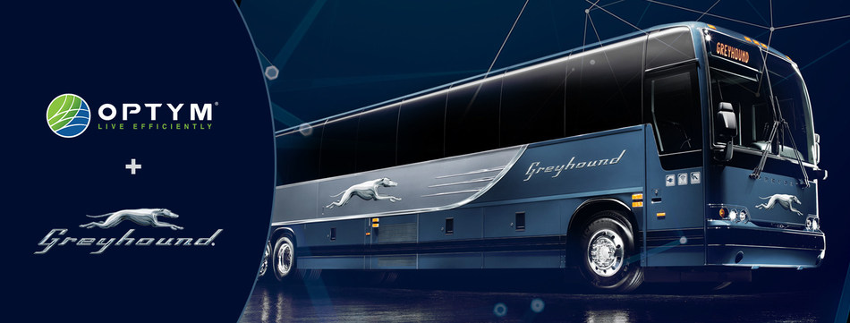 Optym partners with Greyhound Lines to develop DriverMAX, a completely new driver route planning solution.