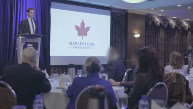 Everything about the fake investment opportunity – from the company's name and logo, to the presenters bio and the colour of his tie – was extensively researched and specifically designed to be trustworthy. Photo credit: ASC (CNW Group/Alberta Securities Commission)
