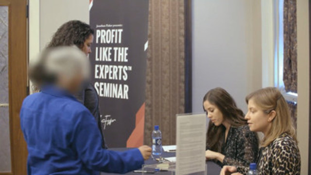 Twenty-two people attended the Alberta Securities Commission's fake investment seminar on February 22, 2017 in Calgary. Photo credit: ASC (CNW Group/Alberta Securities Commission)