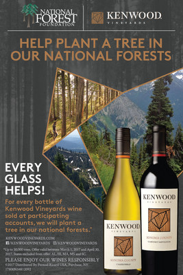 Kenwood Vineyards Partners with National Forest Foundation