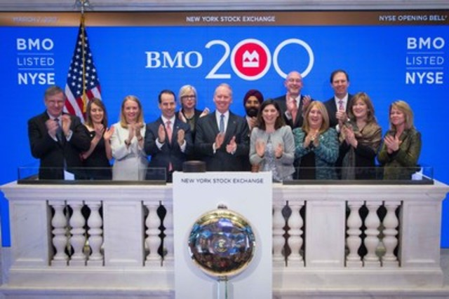 BMO Financial Group CEO Bill Downe rings the NYSE Opening Bell to mark BMO's 200 years in business (CNW ...