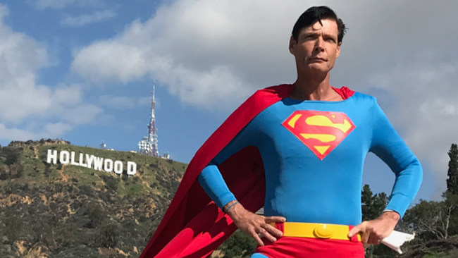 Christopher Dennis has played Superman on Hollywood Blvd. for decades.