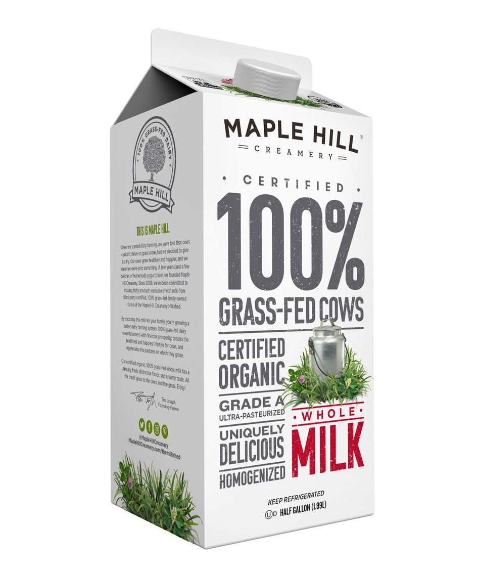 Maple Hill Creamery 100% Grass-Fed Organic Milk