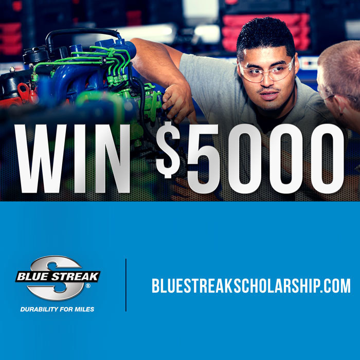 "The inaugural Blue Streak ""Stronger Than Ever"" Automotive Scholarship Contest will award $10,000 to up-and-coming technicians."
