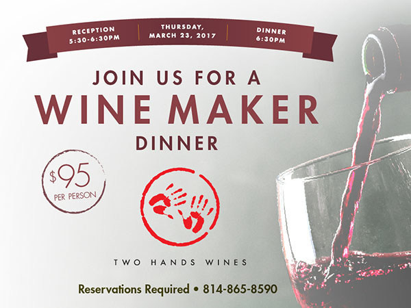 The Nittany Lion Inn Wine Maker Dinner