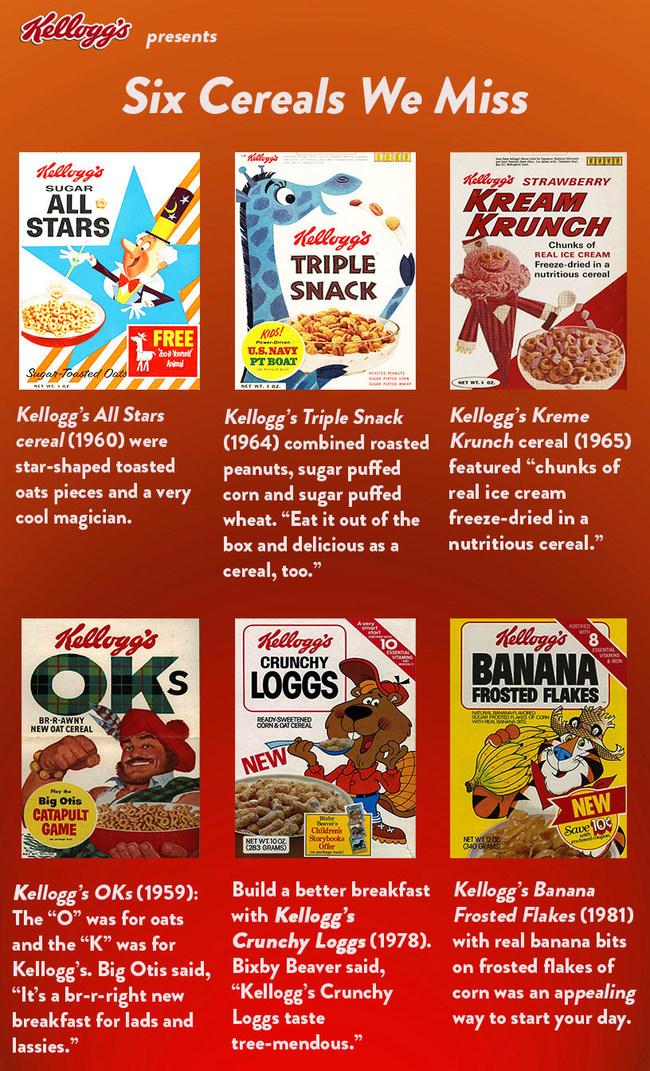 Six Cereals We Miss