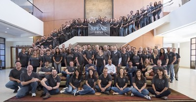 """Spear Education's entire team helped the organization make the """"100 Best Companies in Arizona"""" list. Here the team poses for a group photo at Spear's campus."""