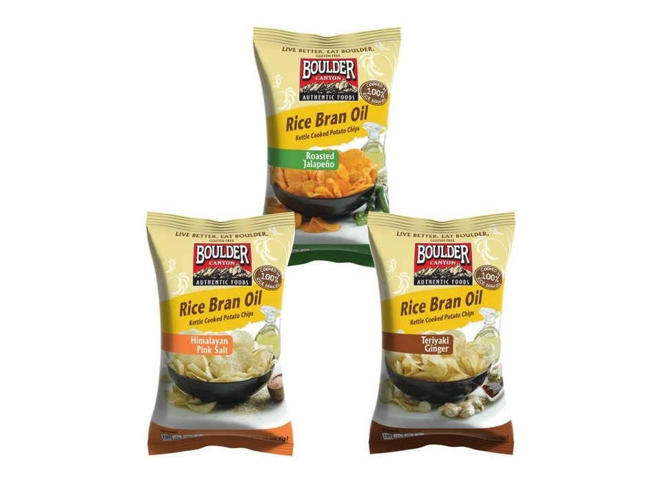 Boulder Canyon(TM) to Introduce New Heart-Friendly Rice Bran Oil Kettle Chips at Natural Products Expo West