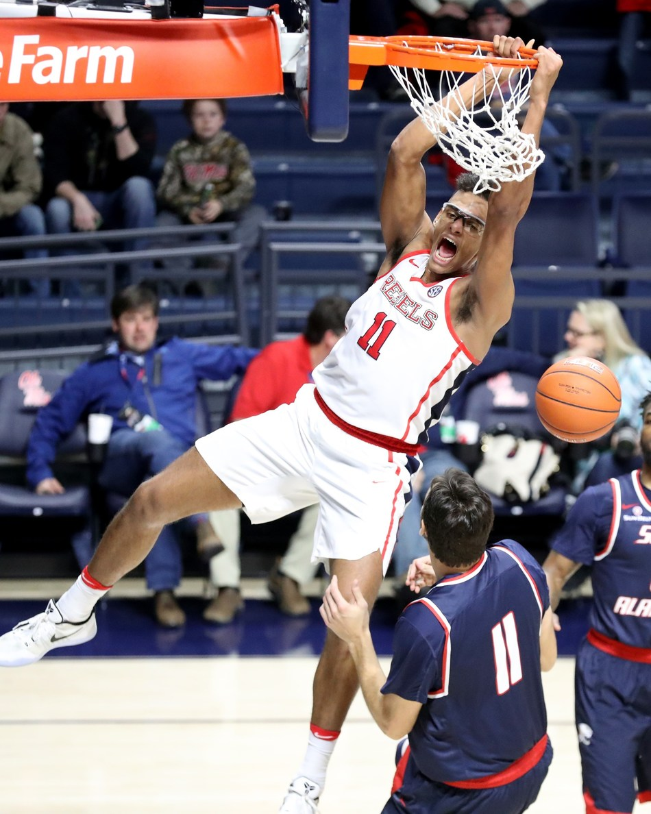 Ole Miss center Sebastian Saiz, who is averaging double digits in scoring and rebounding this season, won the 2017 C Spire Howell Trophy, which annually honors the top male basketball player in Mississippi.