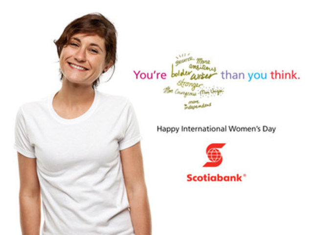 Happy International Women's Day! (CNW Group/Scotiabank)