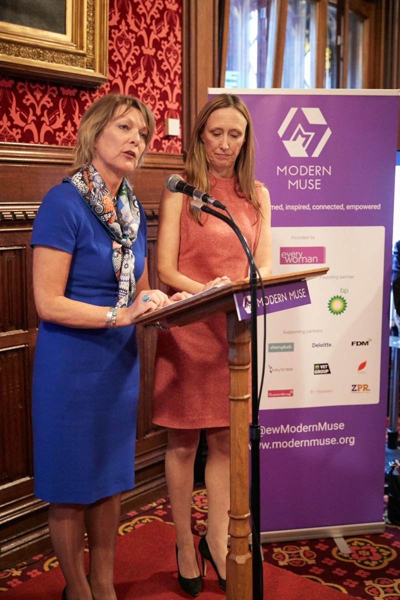 Left is Karen Gill MBE and right is Maxine Benson MBE - Founders of everywoman and Modern Muse (PRNewsFoto/T-Systems)