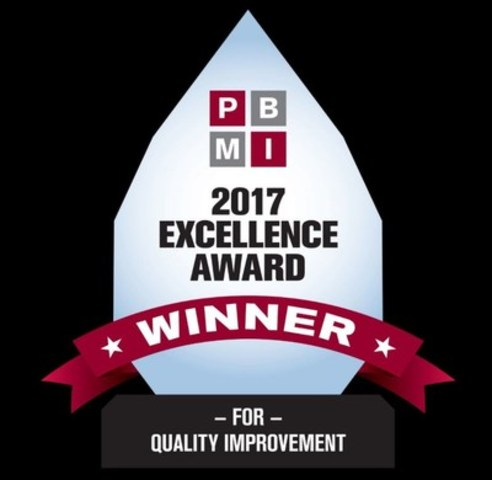 PBMI 2017 Excellence Award for Quality Improvement Icon (CNW Group/Indellient Inc)