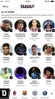 Player homepage (PRNewsFoto/Dugout.com)