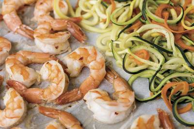 Coconut Lime Shrimp with Zoodles Photo Courtesy of McCormick