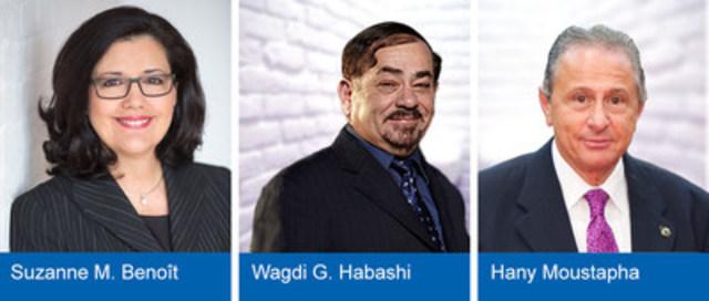 Les co-présidents du Comité Événements majeurs Aérospatiale du Palais des congrès de Montréal. (Groupe CNW/Palais des congrès de Montréal)