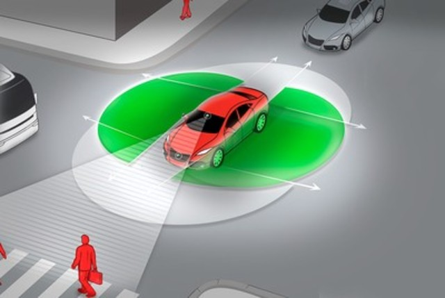 Magna's EYERIS® electronic vision system on the Maserati Levante includes a 360-degree surround view system. (CNW Group/Magna International Inc.)