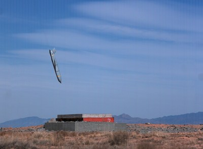 A Lockheed Martin JASSM missile closes in on a target during a test.
