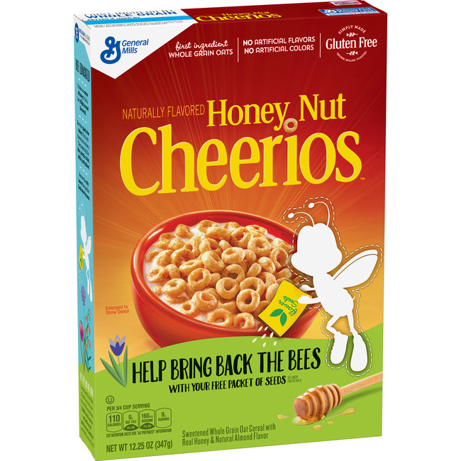 Honey Nut Cheerios #BringBackTheBees box