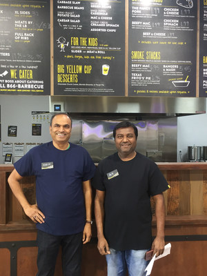 Amin Khowaja and Karim Momin open Dickey's Barbecue Pit on Thursday, March 9
