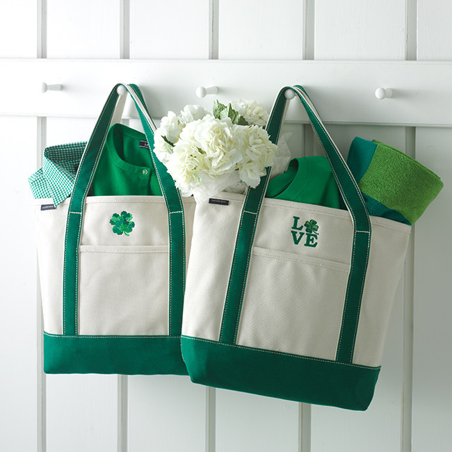 Lands' End offers a little bit of luck this St. Patrick's Day with custom embroidery and monogramming at www.landsend.com.