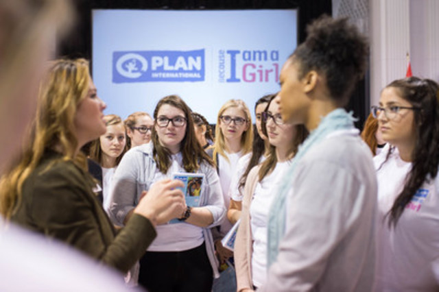 At a Plan International Canada International Women's Day event in Ottawa, Global Ambassador Madame Sophie Grégoire Trudeau joined a group of youth to meaningfully discuss what gender equality means to them. (CNW Group/Plan International Canada)