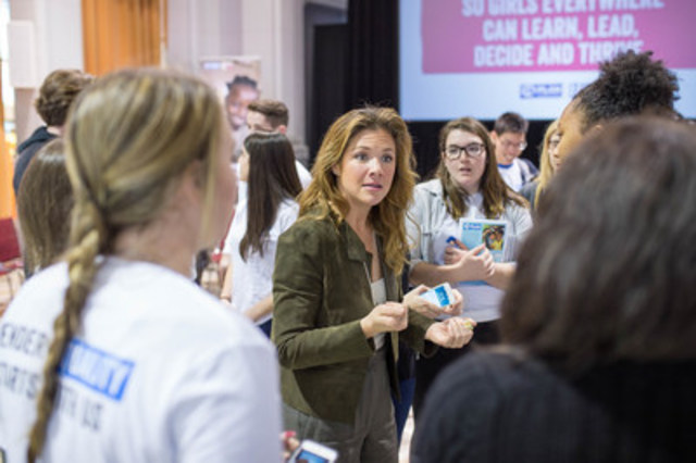 Plan International Canada Global Ambassador Madame Sophie Grégoire Trudeau talks to youth members and supporters of Champions of Change Clubs to dive deeper into how gender stereotypes perpetuate a harmful cycle of inequality at a Plan International Canada event in Ottawa. (CNW Group/Plan International Canada)