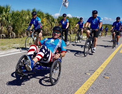 Warriors hit the road during the recent Wounded Warrior Project Soldier Ride in Tampa.