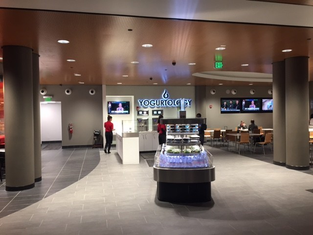 New Yogurtology shop at Terminal F of the Tampa International Airport