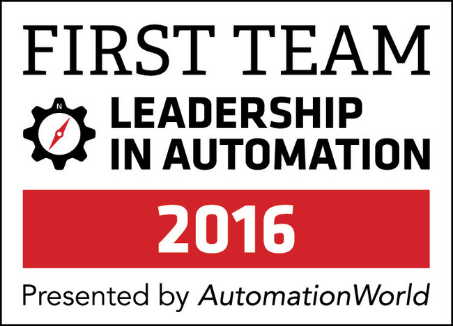 """Our First Team Honorees represent not only best-in-class product innovation but also superior customer service. Congratulations to the honorees! And thank you to the end-users who took the time to vote for their favorite solution providers."" - Jim Chrzan, Publisher, Automation World"