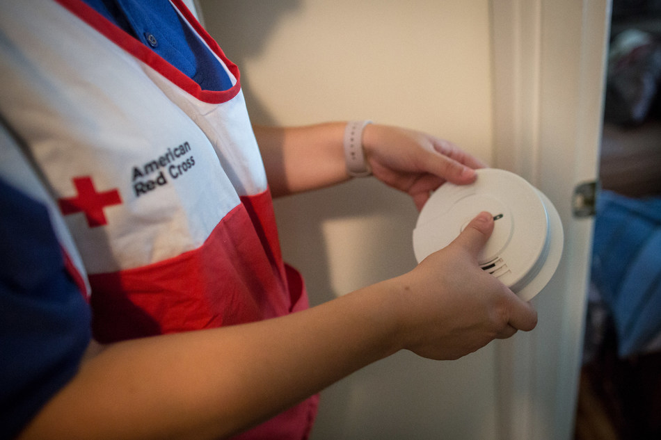 With staff and volunteers, the American Red Cross canvassed the community with fire safety materials and installed smoke alarms in underserved/military connected neighborhoods around the Fort Bragg area in Fayetteville, North Carolina, with a goal of installing 1500 smoke alarms.