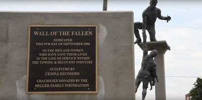 The the Wall of the Fallen, a monument to honor towing operators killed in the line of service. Always remember to Slow Down & Move Over when you see a tow truck on the side of the road. Because behind every Tow Truck Operator is a family waiting for them to come home. Omadi donates to the Survivor Fund on a per tow basis.
