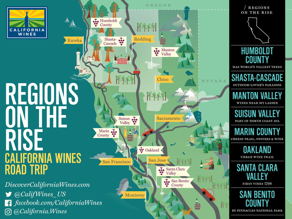 Explore California's Wine Regions on the Rise: Wine Institute's Road Trip Series Offers Tips on How to Sip, Stay and Play