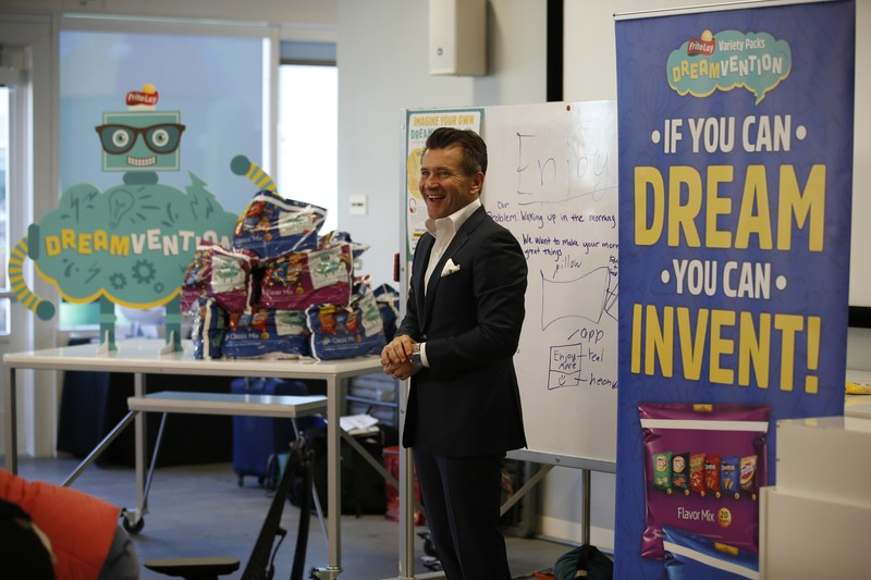 Frito-Lay is hosting local students at Google Garage to dream up inventions. The teams received guidance from TV personality Robert Herjavec and Googlers on Monday, Feb. 27, 2017 in Mountain View, Calif. (Tony Avelar/AP Images for Frito-Lay)
