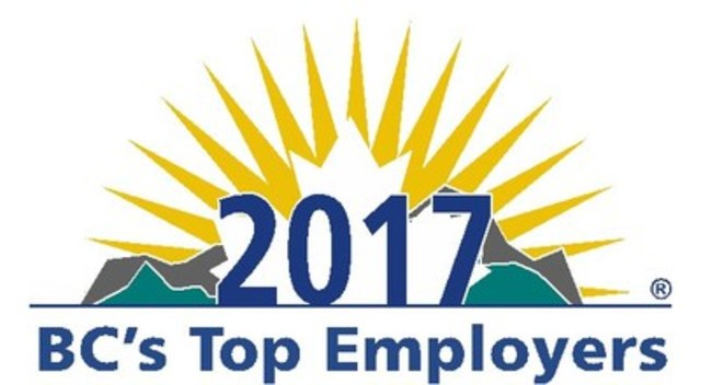 BC's Top Employers 2017 (CNW Group/Mediacorp Canada Inc.)