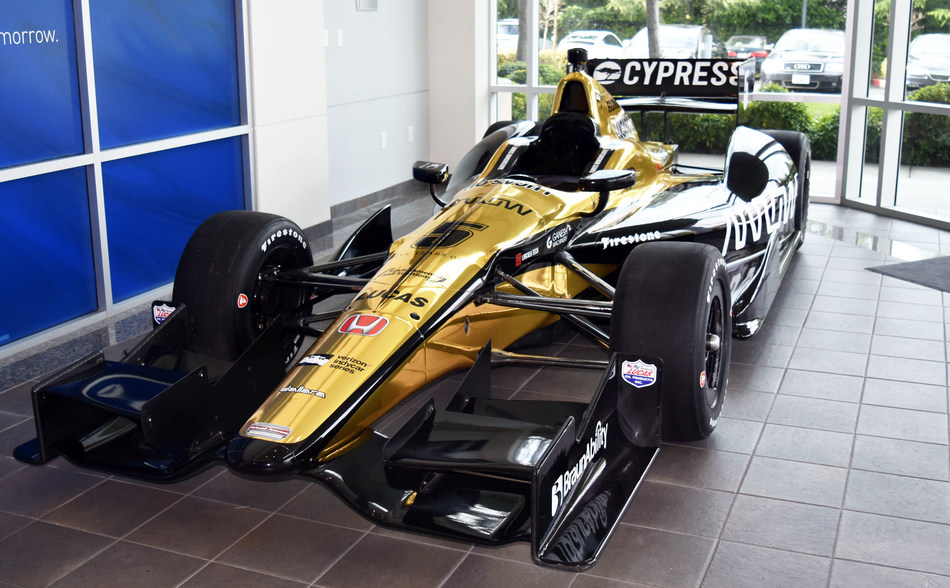 Pictured is the Cypress and Arrow sponsored Schmidt Peterson Motorsports #5 IndyCar.