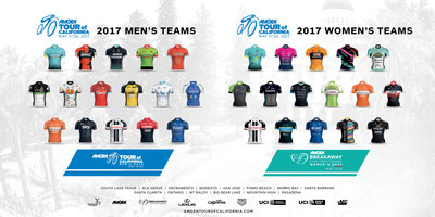 Team selections have been finalized by AEG, producer and presenter of the 2017 Amgen Tour of California (May 14-20) and the Amgen Breakaway from Heart DiseaseTM Women's Race empowered with SRAM (May 11-14).