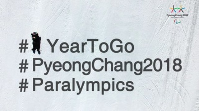 With exactly one year to go until the Opening Ceremony of the PyeongChang 2018 Paralympic Winter Games set for March 9 to 18, 2018, the Canadian Paralympic Committee is looking forward with great excitement to competing in South Korea. Photo: PyeongChang 2018 (CNW Group/Canadian Paralympic Committee (CPC))