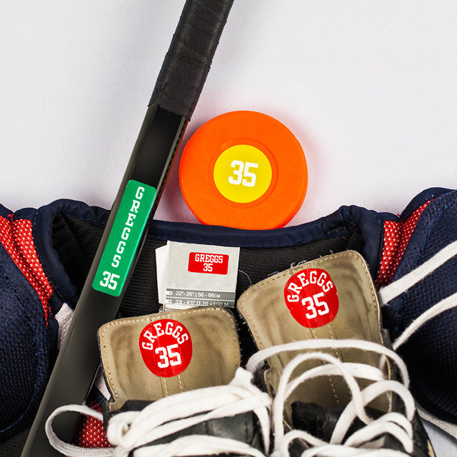 These super durable labels are sweat proof and laundry safe and are perfect for water bottles, shoes and all your sports equipment.