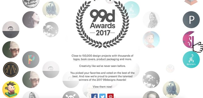 """99designs announces winners of Annual """"99awards"""" Design Competition"""