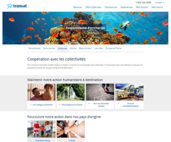 Nouveau site RE de Transat_Collectivités (Groupe CNW/Transat A.T. Inc.)