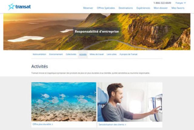 Nouveau site RE de Transat_Activités (Groupe CNW/Transat A.T. Inc.)
