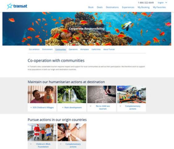 Transat's new CR website_Communities (CNW Group/Transat A.T. Inc.)