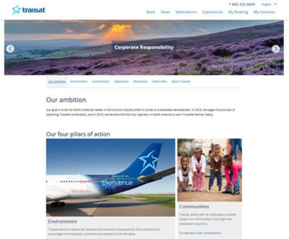 Transat's new CR website_homepage (CNW Group/Transat A.T. Inc.)