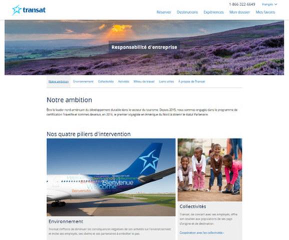 Nouveau site RE de Transat_accueil (Groupe CNW/Transat A.T. Inc.)